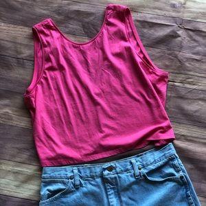 ASOS NEW Swing Crop Top in Neon Pink!